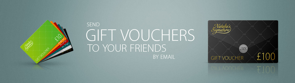 Send gift vouchers to your friends - Natalia's Signature