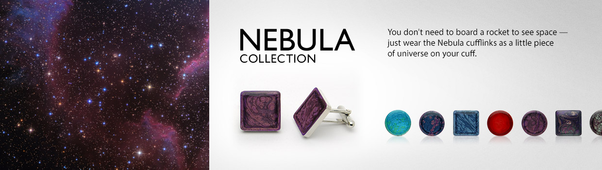 Nebula Cufflinks by Natalia's Signature
